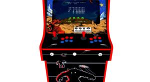 Classic Upright Arcade Machine - Space Invaders Theme Buttons - v2