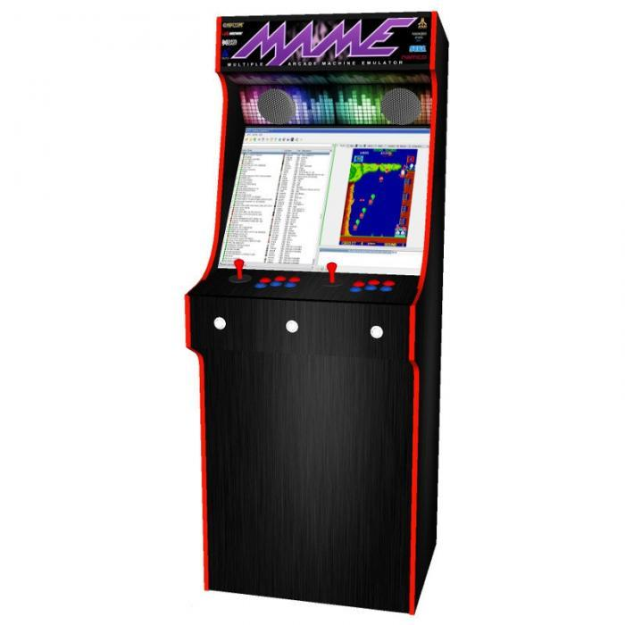 arcade upright - mame theme red tmold