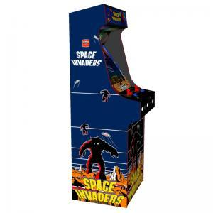 arcade upright - space invaders theme red tmold