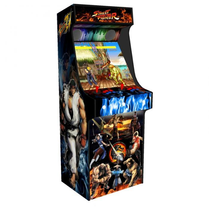 arcade upright - street fighter theme black tmold