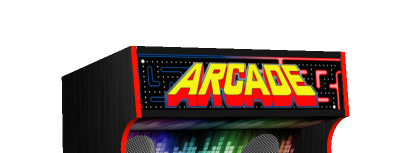 Arcade Upright Generic Text Top Marquee