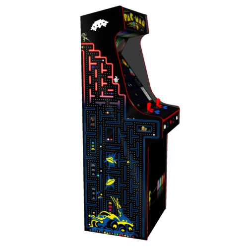 Classic Upright Arcade Machine - PacMan Theme Left - V2