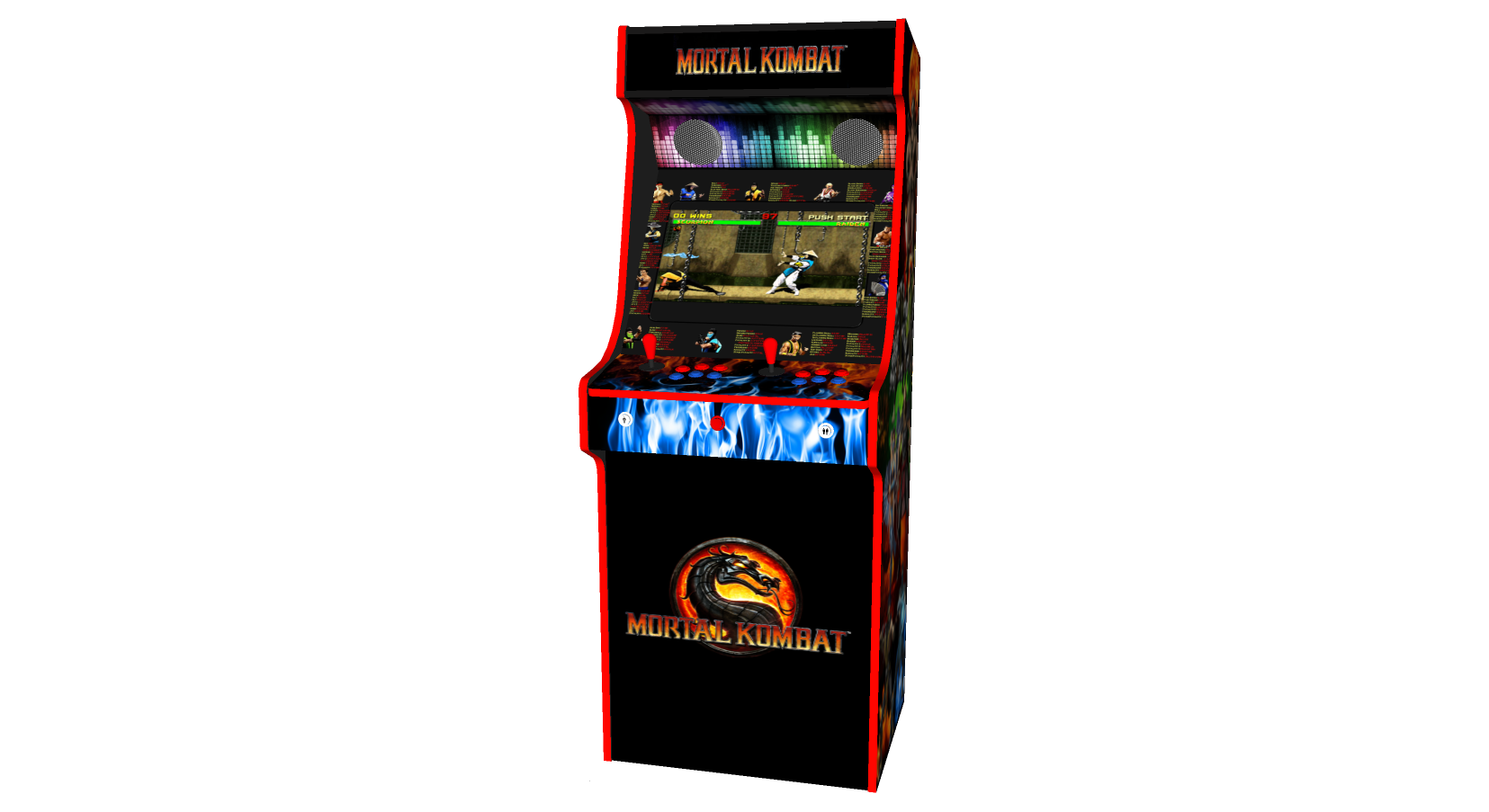 Classic Upright Arcade Machine - Mortal Kombat theme - Middle v3.1