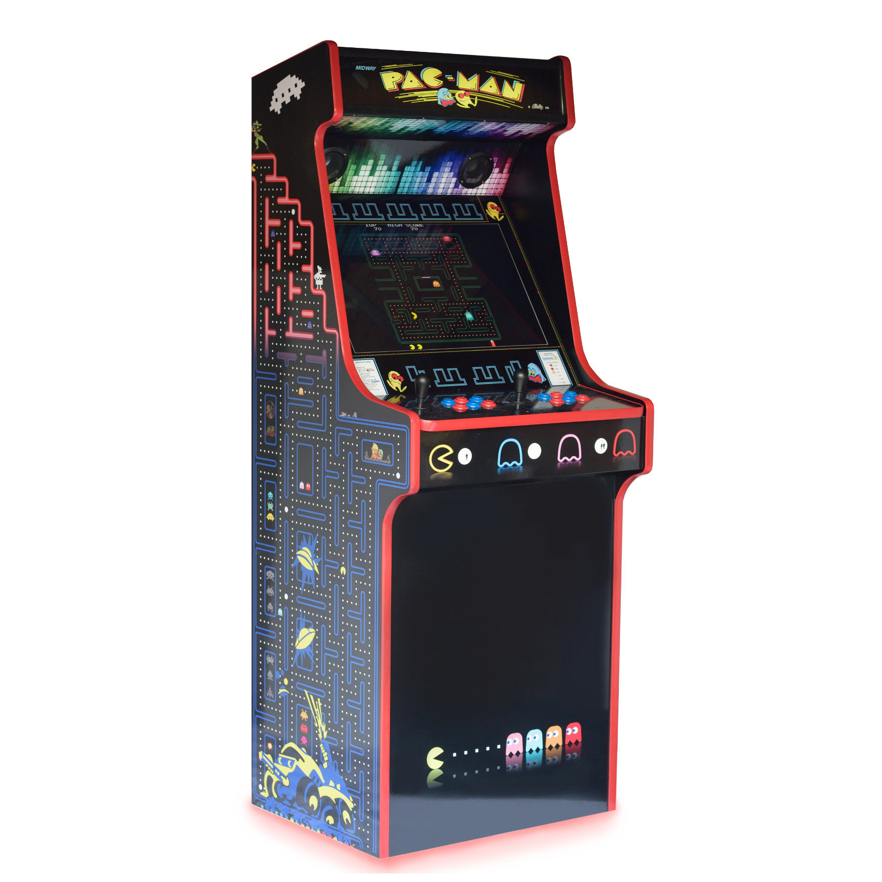 Classic Upright Arcade Machine - PacMan Theme - left side