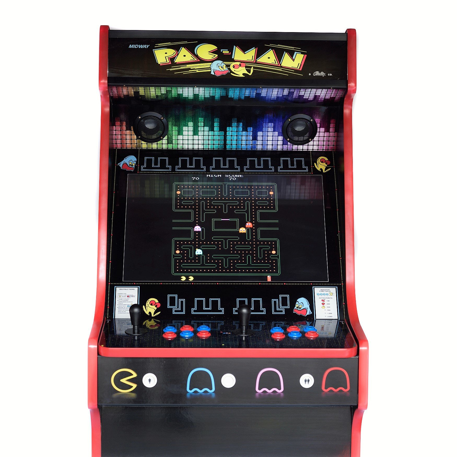 Pacman Style Upright Arcade Machine 960 Games Hd Arcadecity