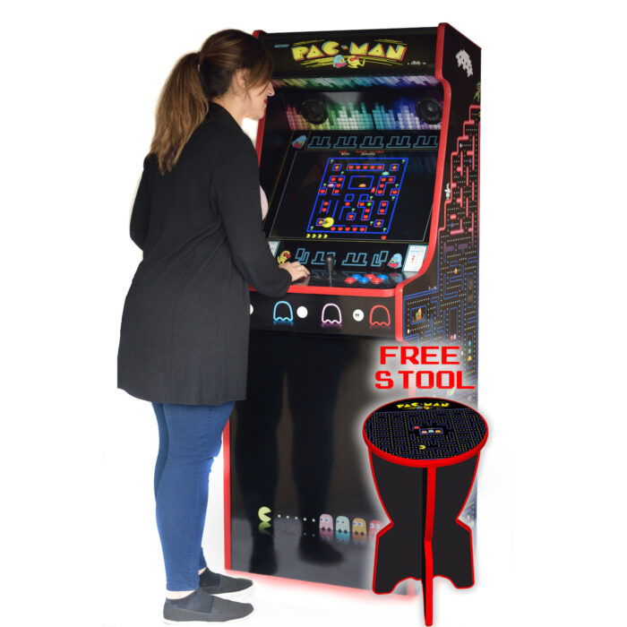 Classic Upright Arcade Machine - PacMan Theme - playing