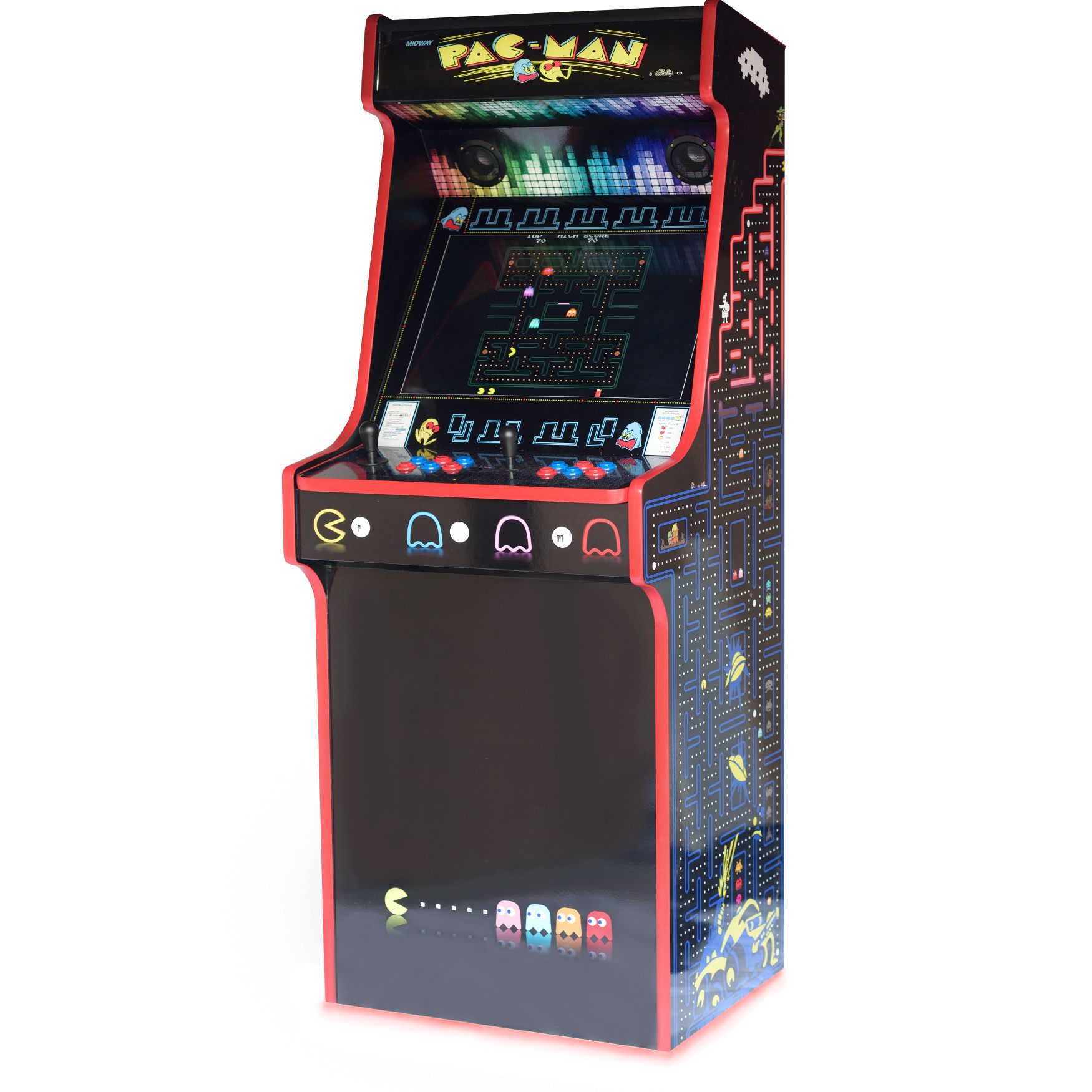 Classic Upright Arcade Machine - PacMan Theme - right side