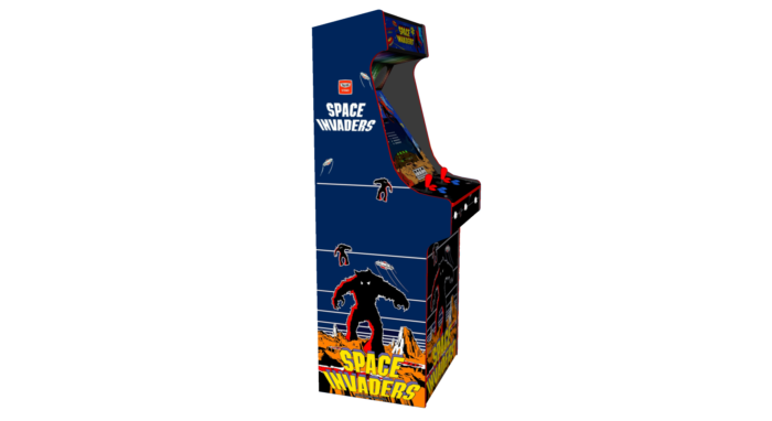 Classic Upright Arcade Machine - Space Invaders Theme Left - v2