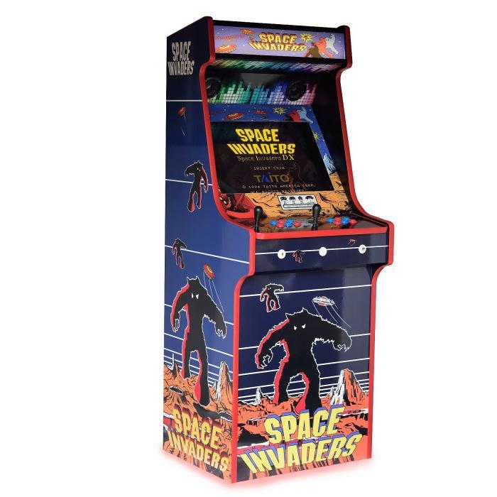 Classic Upright Arcade Machine - Space Invaders Theme left side
