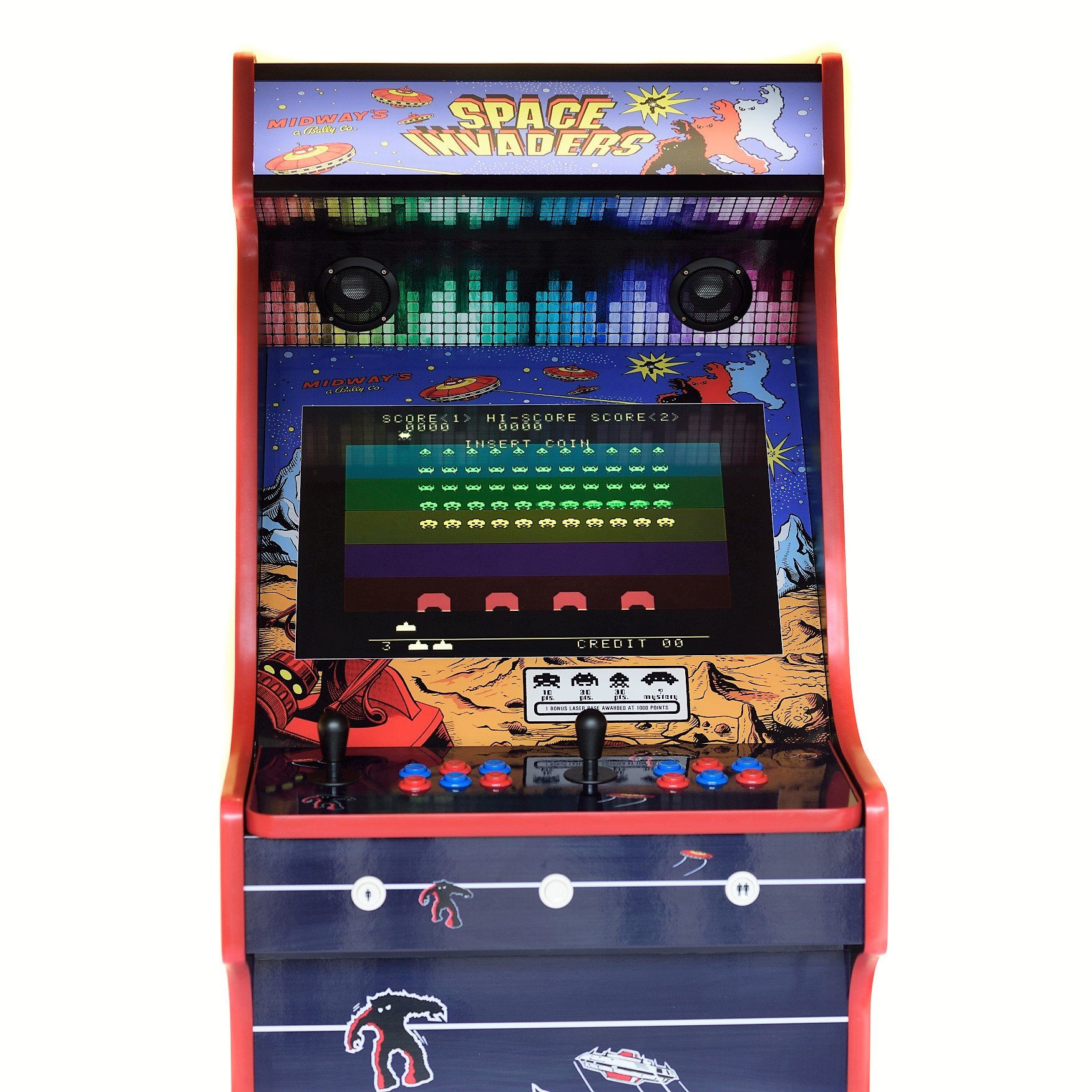 Classic Upright Arcade Machine - Space Invaders Theme middle