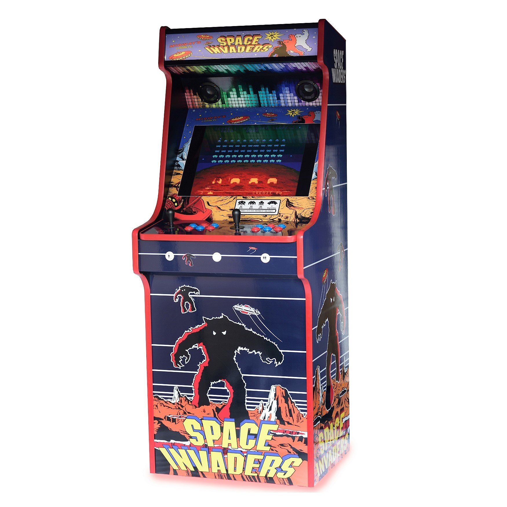 Classic Upright Arcade Machine - Space Invaders Theme right side