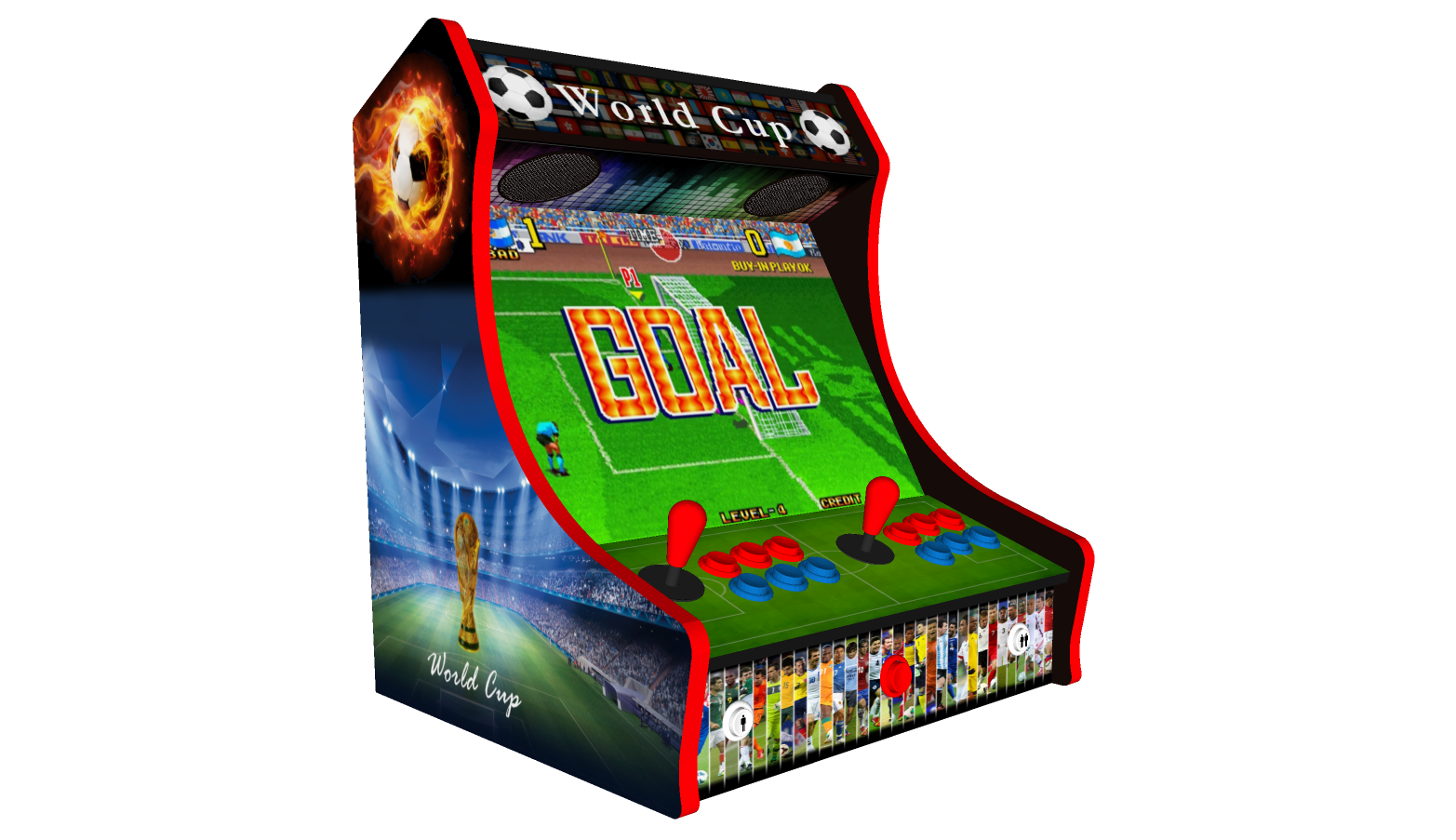 Classic Bartop Arcade - Football theme - Left