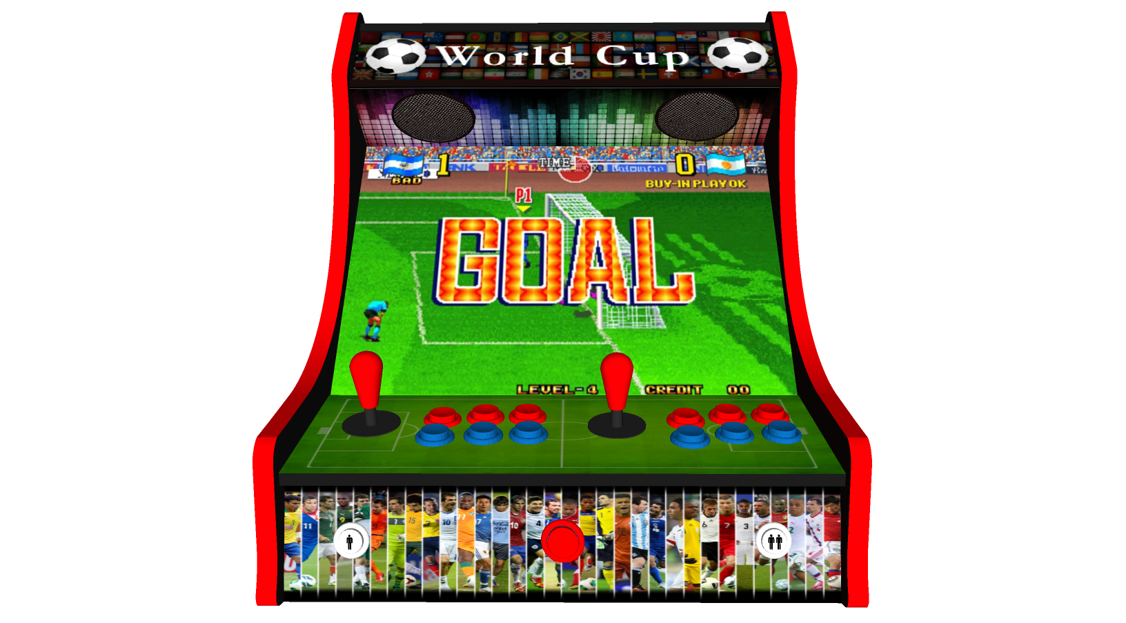 Classic Bartop Arcade - Football theme - Middle