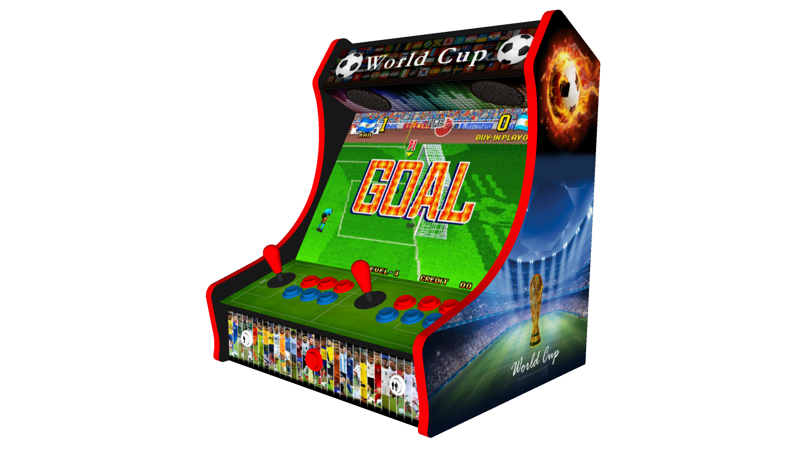 Classic Bartop Arcade - Football theme - Right