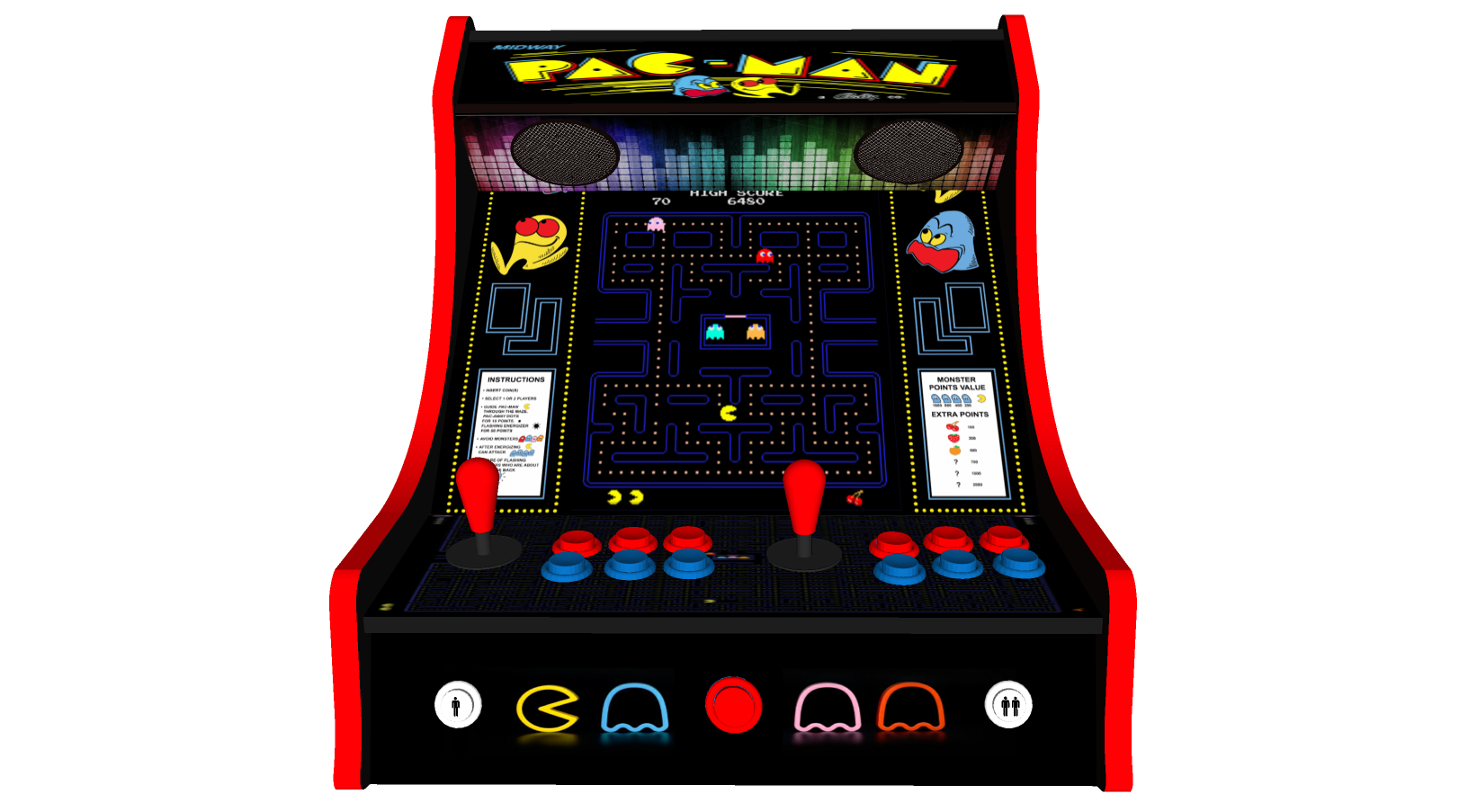 Pacman classic arcade flash game