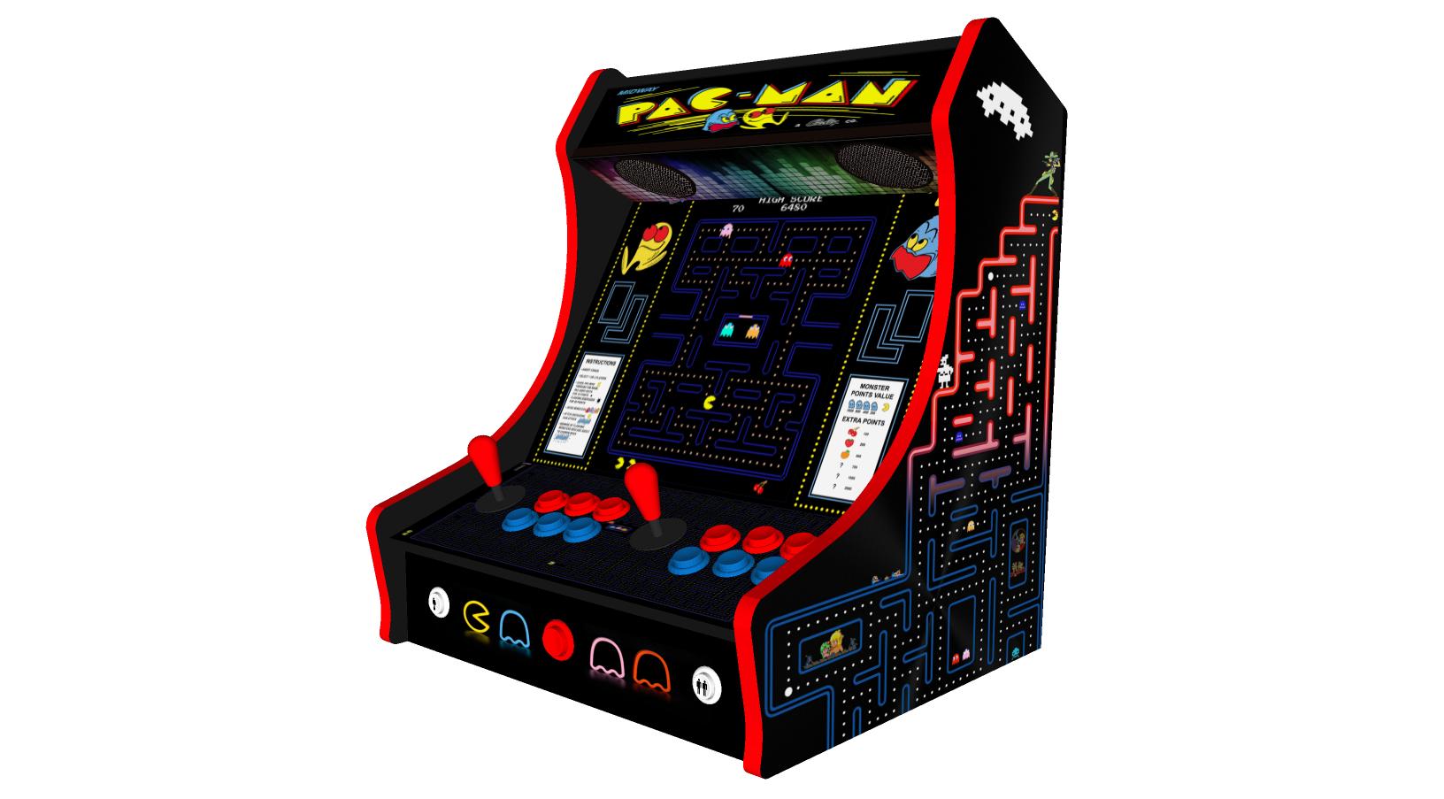 Classic Bartop Arcade - PacMan theme - right