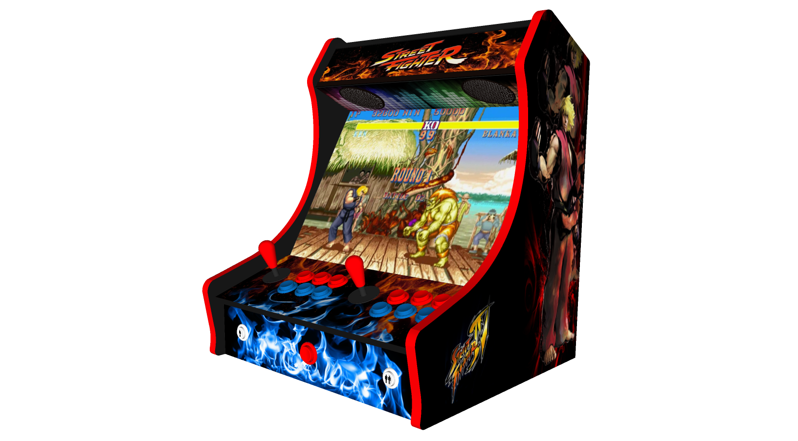 Retro Street Fighter Arcade Machine with 15000 Games, 24 Inch Screen
