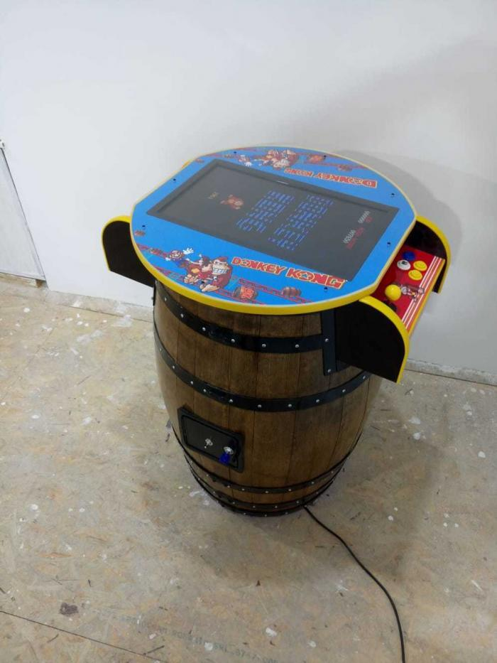 Unique Kong Barrel Design Arcade Machine With 60 Games left view
