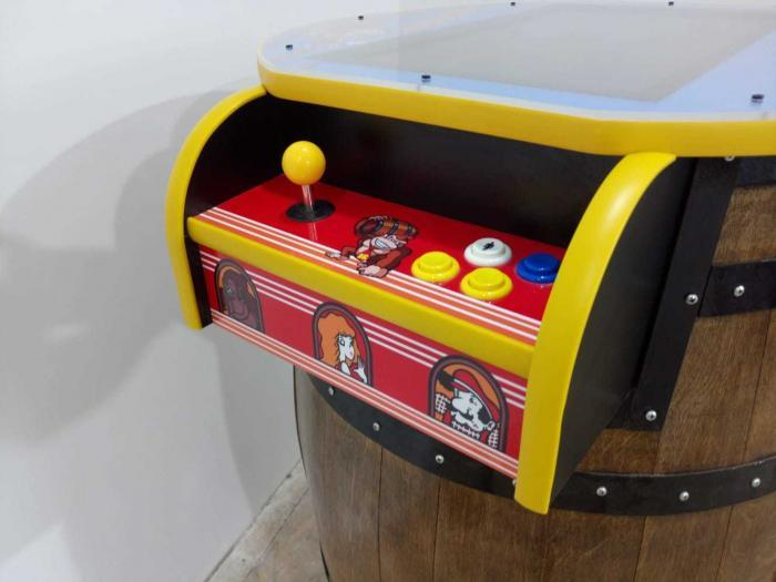 Unique Kong Barrel Design Arcade Machine With 60 Games - side view 2