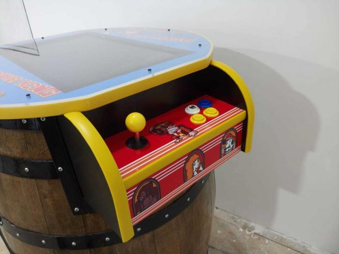 Unique Kong Barrel Design Arcade Machine With 60 Games - side view