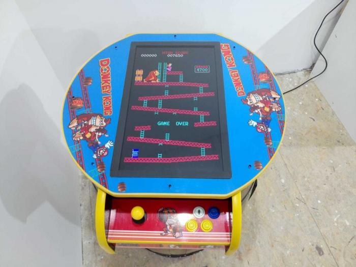 Unique Kong Barrel Design Arcade Machine With 60 Games top view