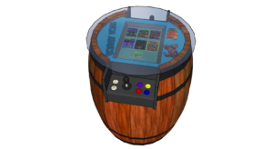 Barrel design custom arcade machines