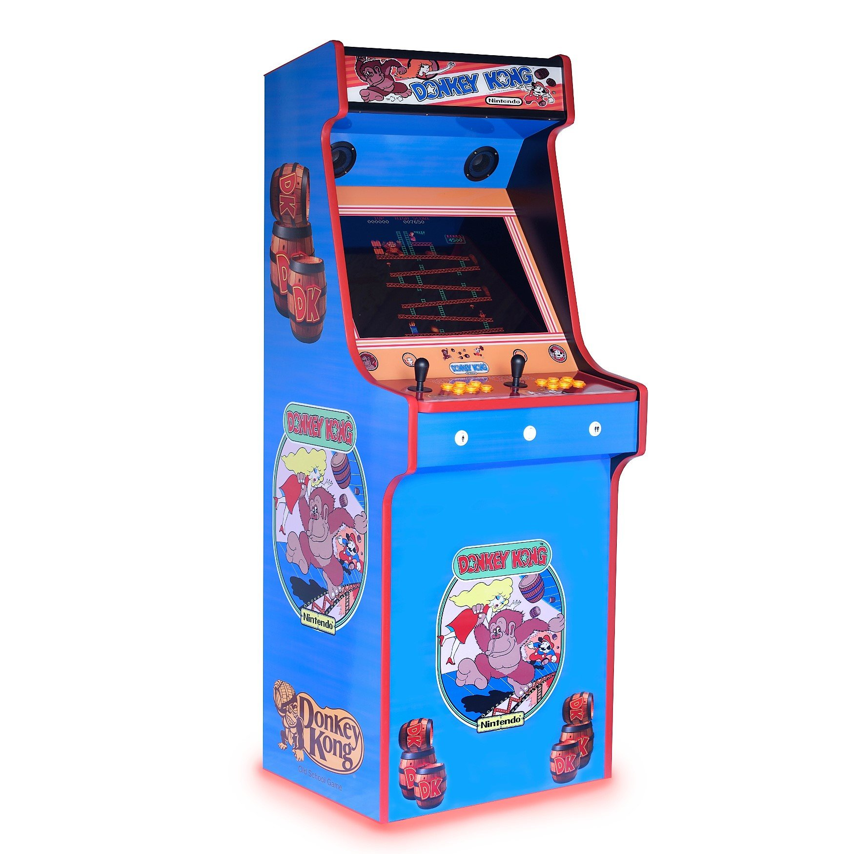 Retro Upright Arcade Machine Donkey Kong Art 815 Games