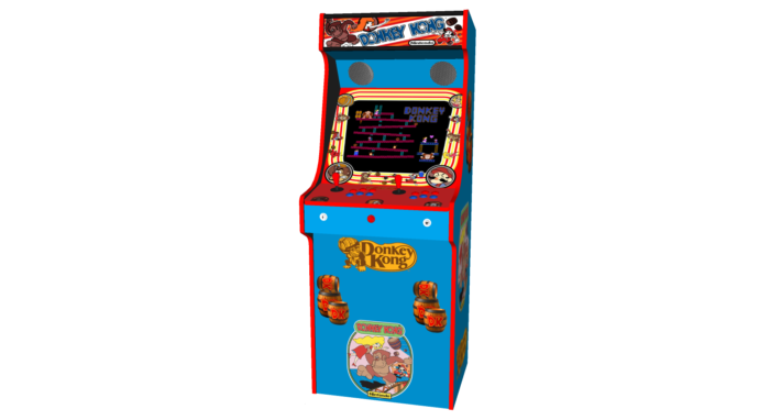 Classic Upright Arcade Machine - Donkey Kong - Middle v2