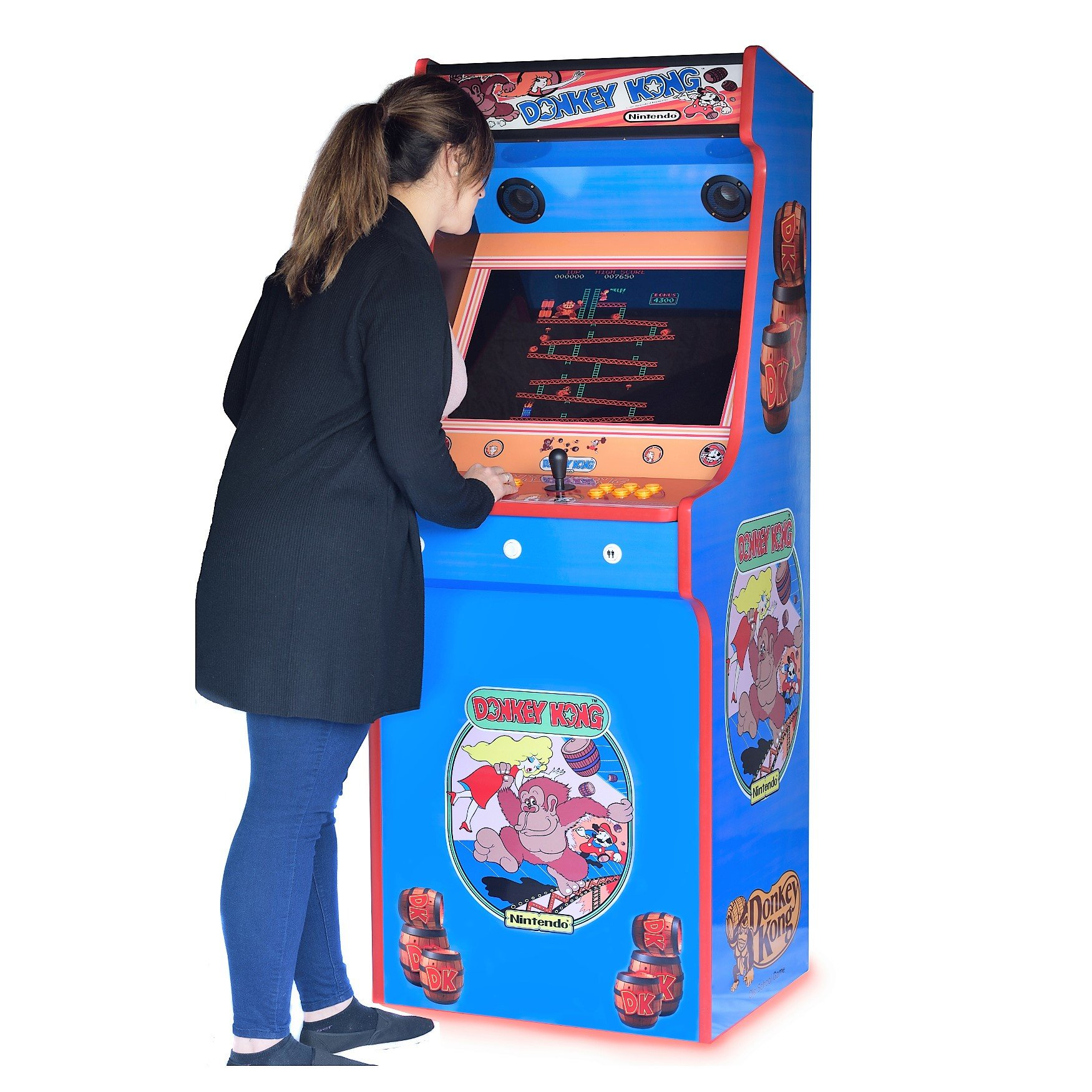 Classic Upright Arcade Machine - Donkey Kong - Playing