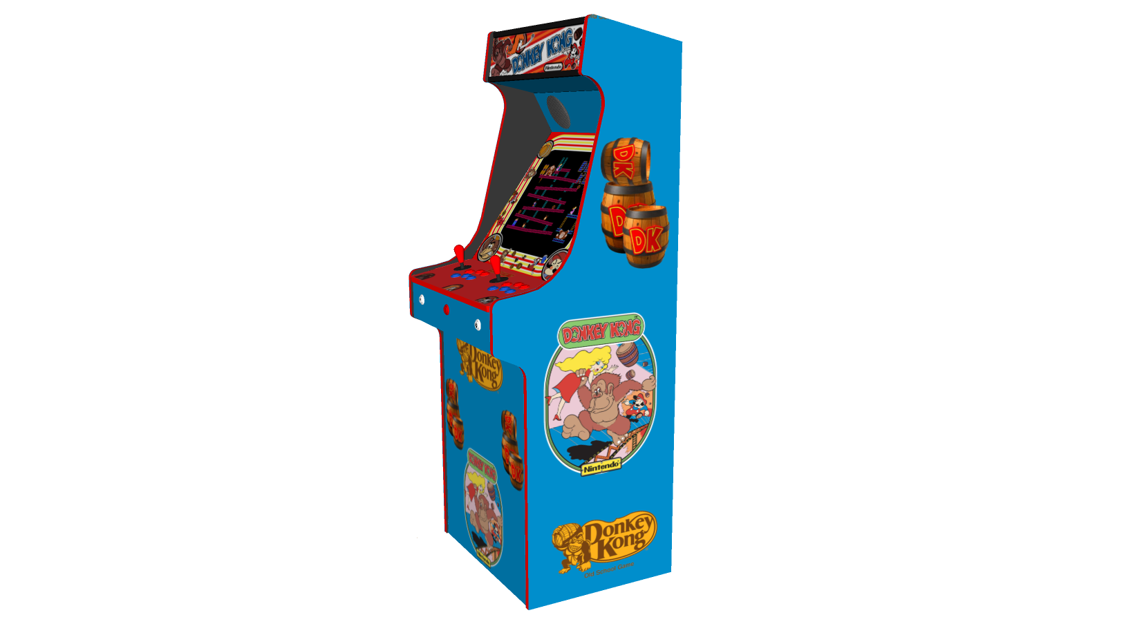 Classic Upright Arcade Machine - Donkey Kong - Right v2
