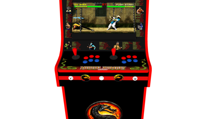 Classic Upright Arcade Machine - Mortal Kombat theme - Buttons v2.1