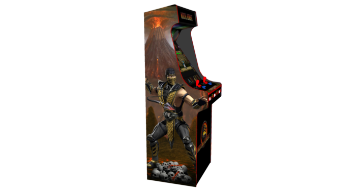 Classic Upright Arcade Machine - Mortal Kombat theme - Left v2.1