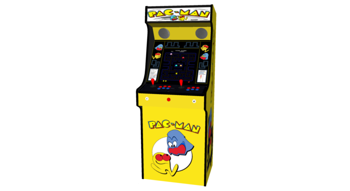 Classic Upright Arcade Machine - Original PacMan Theme - middle v2