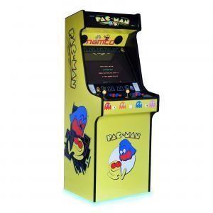 Classic Upright Arcade Machine - Original PacMan Yellow Theme - Left