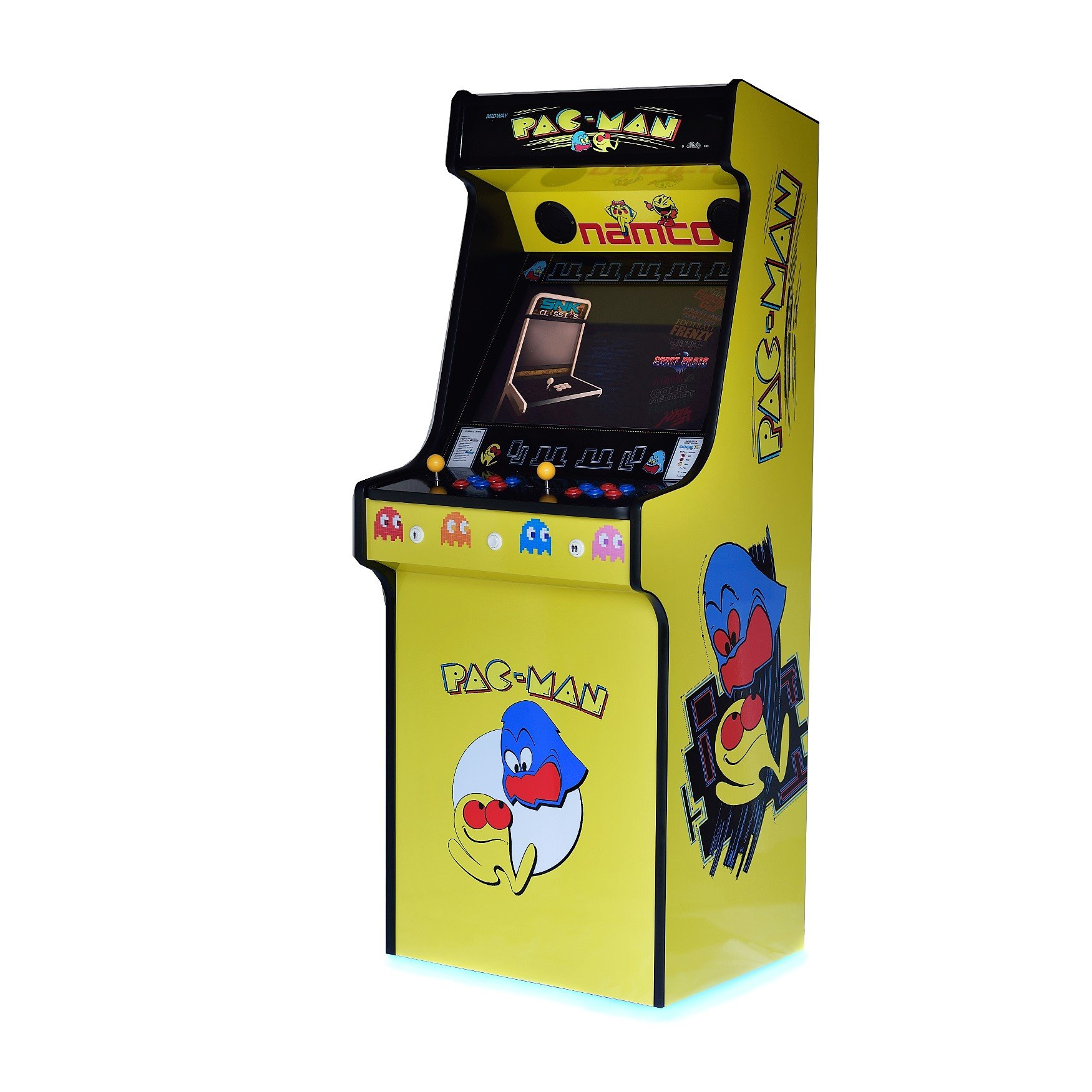Classic Upright Arcade Machine - Original PacMan Yellow Theme - Right