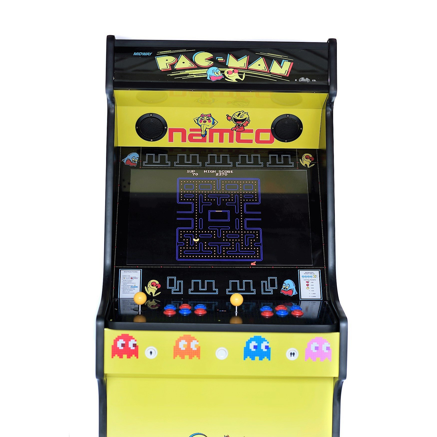 Upright Arcade Machine 815 Games Pacman Yellow Arcadecity