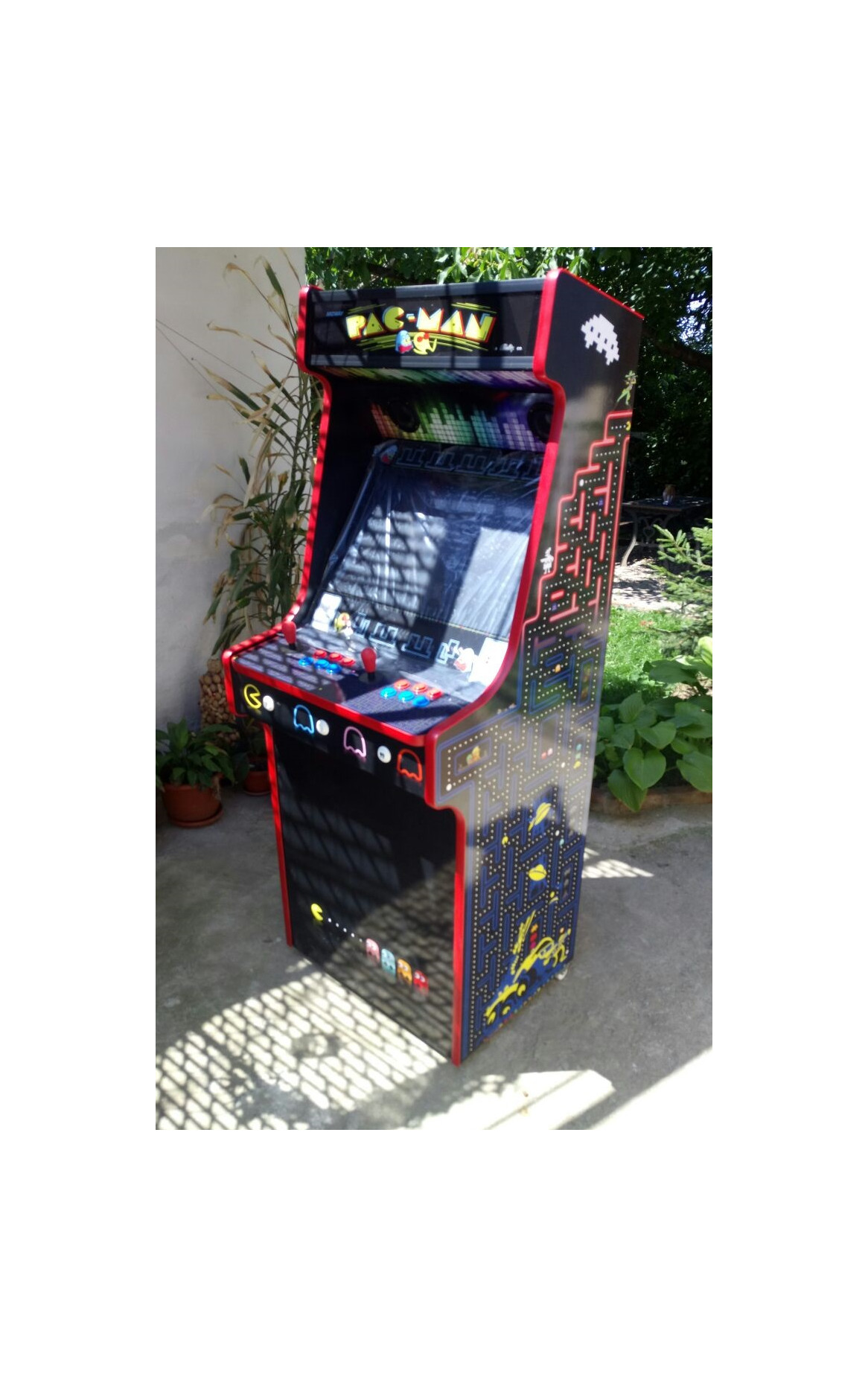 Classic Upright Arcade Machine - PacMan Theme v2