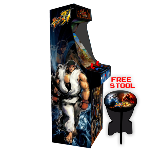 Classic Upright Arcade Machine - Street Fighter Theme v2 - Left
