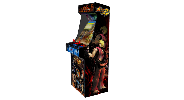 Classic Upright Arcade Machine - Street Fighter Theme v2 - Right