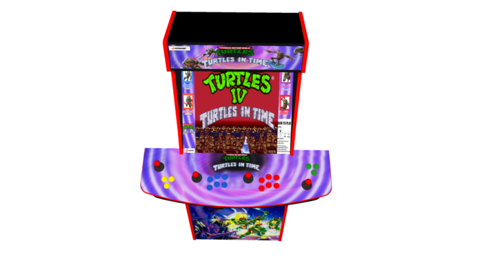 Teenage Mutant Ninja Turtles In Time TMNT - Upright Arcade 4 Player - Buttons
