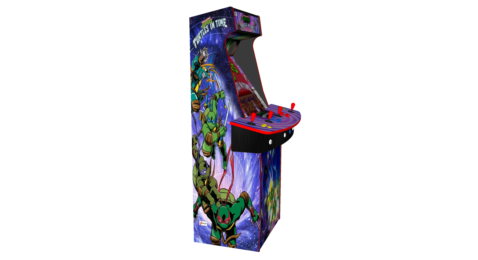 Teenage Mutant Ninja Turtles In Time TMNT - Upright Arcade 4 Player - Left