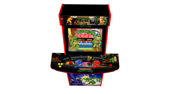 Teenage Mutant Ninja Turtles TMNT - Upright Arcade 4 Player - Buttons