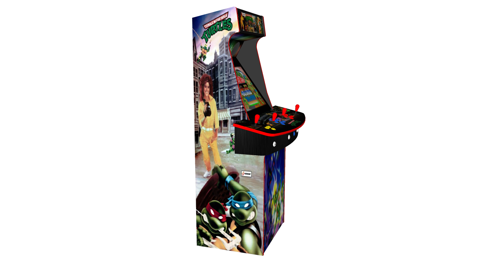 Teenage Mutant Ninja Turtles TMNT - Upright Arcade 4 Player - Left