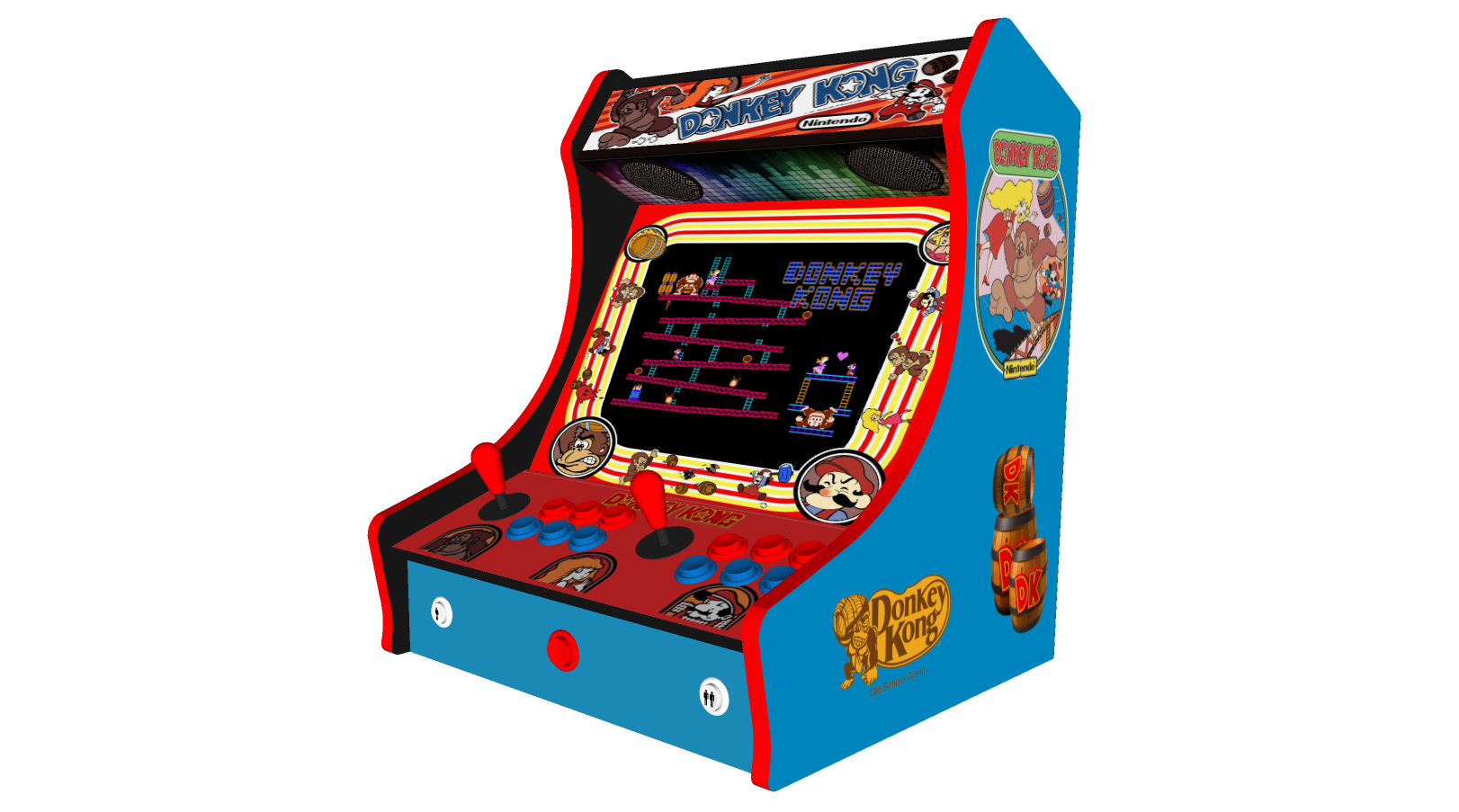 Retro Bartop Arcade Machine 520 Games Donkey Kong Art