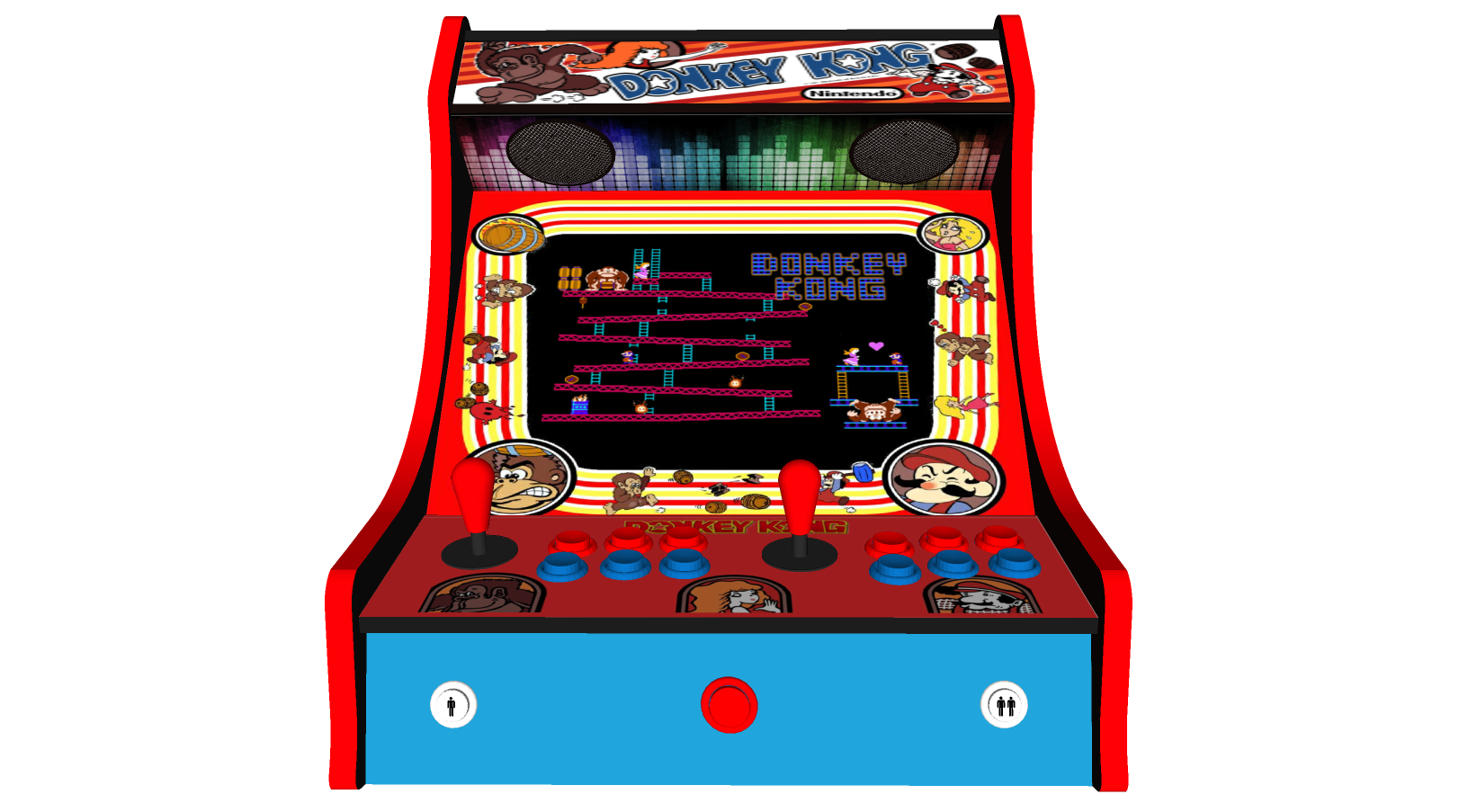 Classic Bartop Arcade - Donkey Kong theme - middle