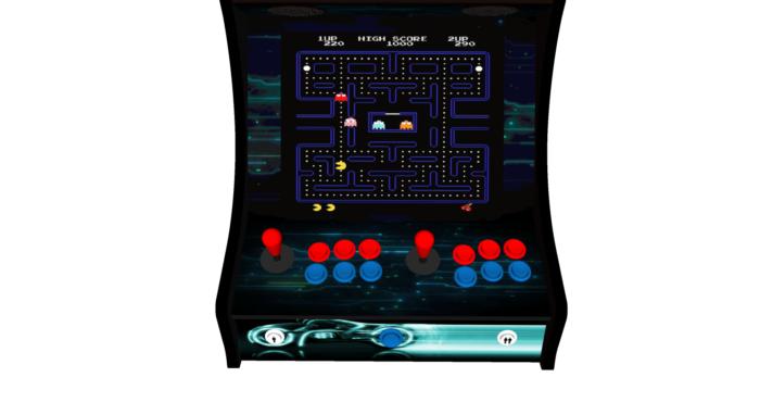 Classic Bartop Arcade - TRON theme - buttons