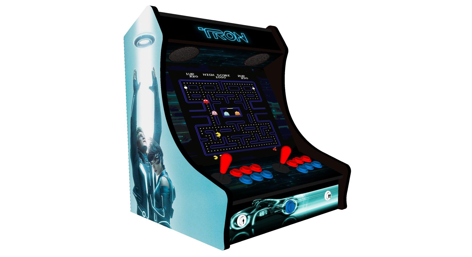 Classic Bartop Arcade - TRON theme - left