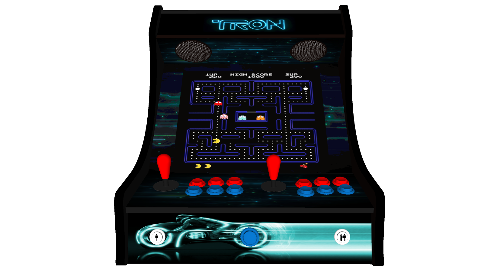 Classic Bartop Arcade - TRON theme - middle