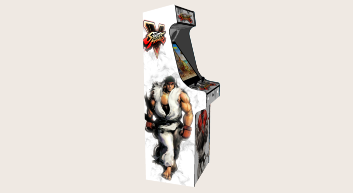 Classic Upright Arcade Machine - Street Fighter 5 Theme - Left