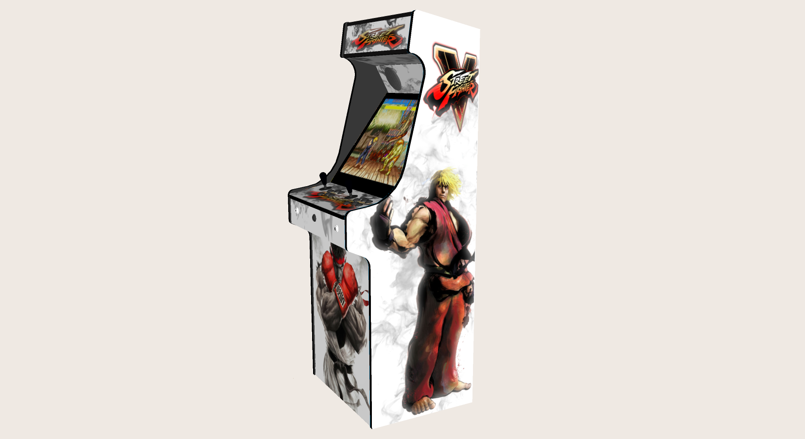Classic Upright Arcade Machine - Street Fighter 5 Theme - Right